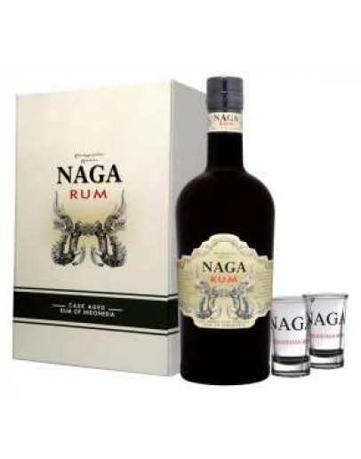 Rum Naga pack with 2 glasses