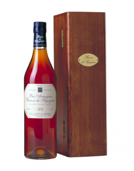 Bas Armagnac Baron de Sigognac 1996 in wooden crate